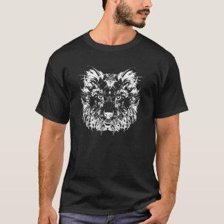 Abstract Tribal Wolf Dark T-shirt