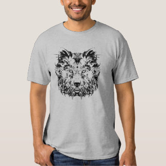 Abstract Tribal Wolf Shirt