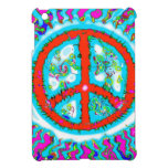 Abstract Trippy Peace Sign iPad Mini Covers