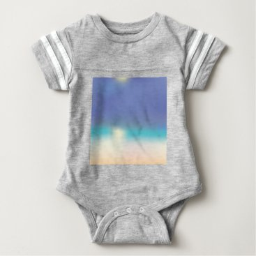Beach Themed Abstract Tropical beach Baby Bodysuit