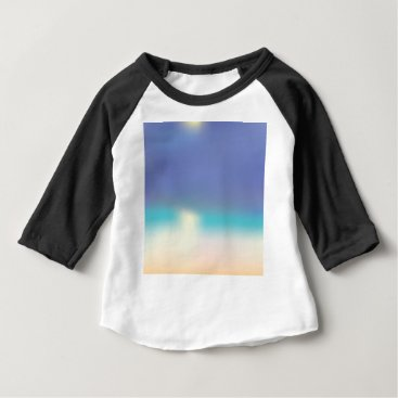 Beach Themed Abstract Tropical beach Baby T-Shirt
