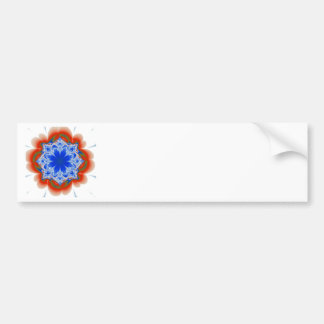 Abstract Tropical Blue Flower Plant Bumper Sticker