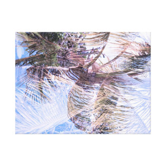 Abstract tropical double exposure background canvas print