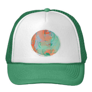 Abstract Tropical Painting Trucker Hat