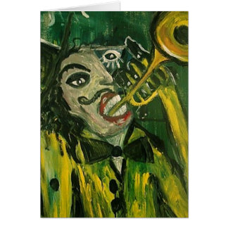 Abstract Trumpet Player Card