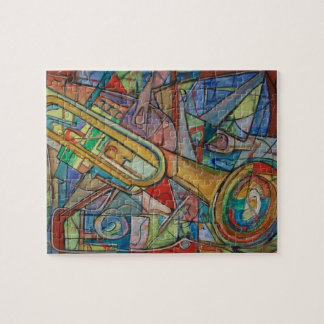 Abstract Trumpet Puzzle by ValAries