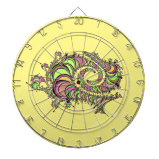 Abstract Tube Colorful Design Dartboard With Darts
