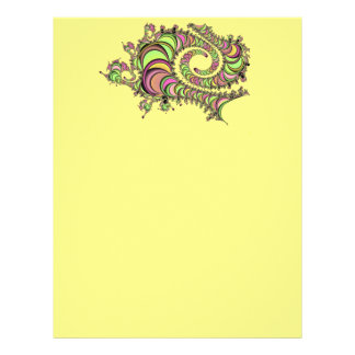 Abstract Tube Colorful Design Letterhead