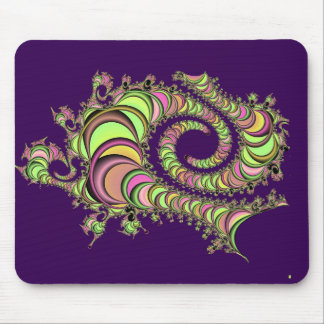 Abstract Tube Colorful Design Mouse Pad