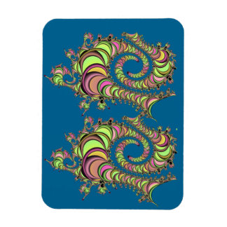 Abstract Tube Colorful Design Rectangular Photo Magnet