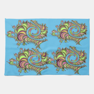 Abstract Tube Colorful Design Towel