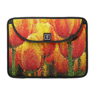 Abstract Tulip Painting Art Macbook Pro Sleeves