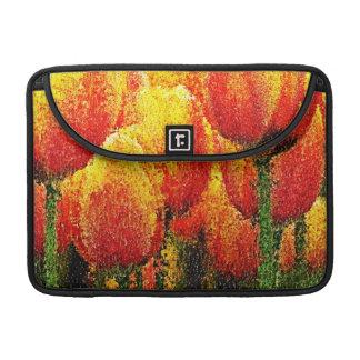 Abstract Tulip Painting Art Macbook Pro Sleeves