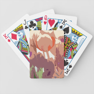 Abstract Tulips Playing Cards
