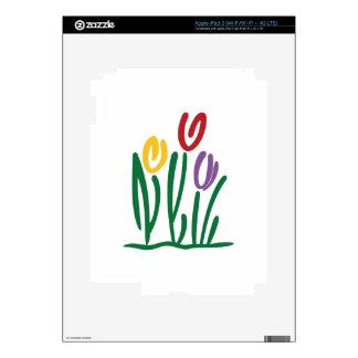 Abstract Tulips iPad 3 Skin