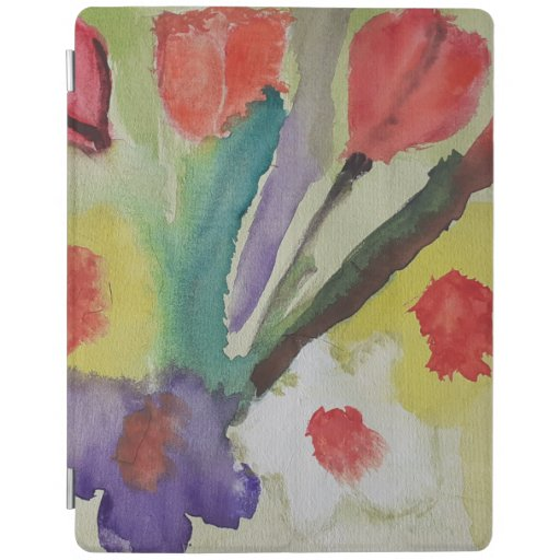 Abstract Tulips & Spring Flowers iPad Smart Cover