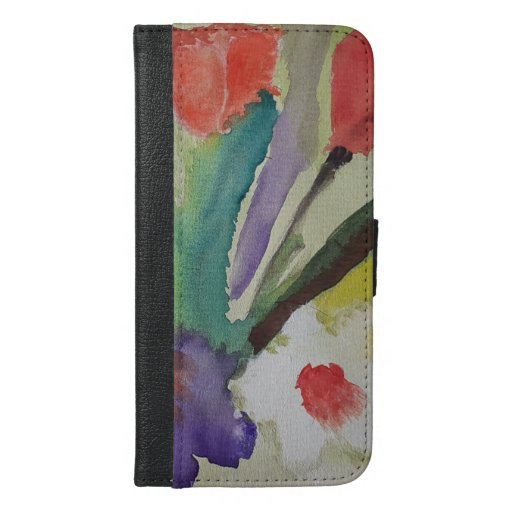 Abstract Tulips & Spring Flowers iPhone 6/6s Plus Wallet Case