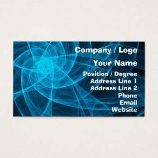 Abstract Tulle Star Computer Art in Blue Business Card