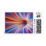 Abstract tunnel picture postage stamps