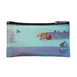 Abstract Turquoise Bag Makeup Bag