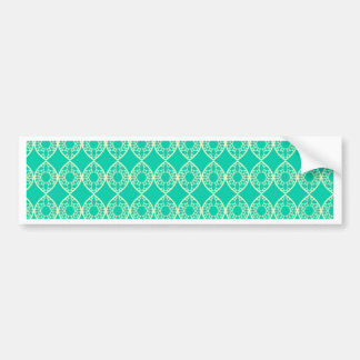 Abstract turquoise bumper sticker