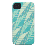 Abstract Turquoise Case-Mate iPhone 4 Case