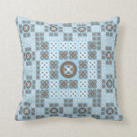 Abstract turquoise floral pattern - MoJo Pillow