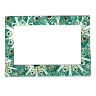 Abstract Turquoise Graphic Design Art Fridge Frame