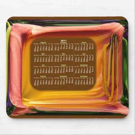 Abstract TV Calendar ~ mousepad