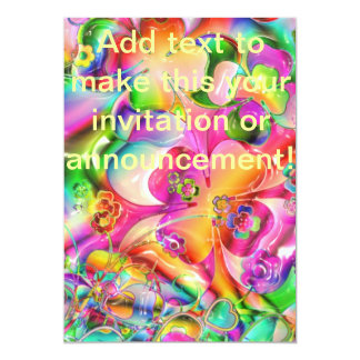 Abstract Twisted Color Flowers Card
