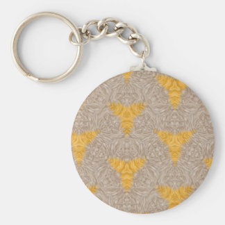 Abstract two colored pattern basic round button keychain