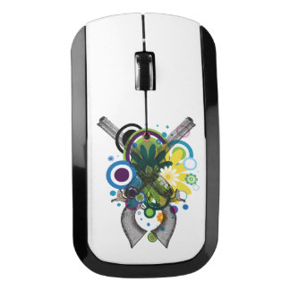 Abstract Two Shooters Wireless Mouse