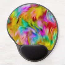 Abstract Tye Dye Pattern Gel Mouse Pad