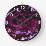 Abstract Tye Dye Wall Clock
