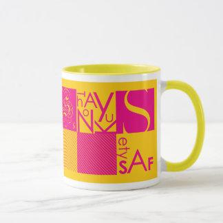 Abstract Typography Mug