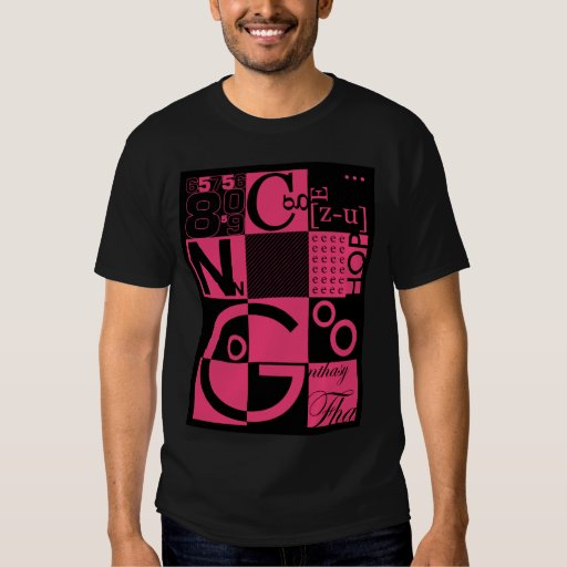 Abstract Typography Tee Shirt