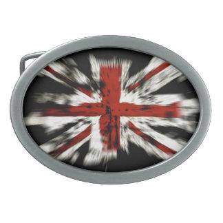 Abstract UK Flag Belt Buckle