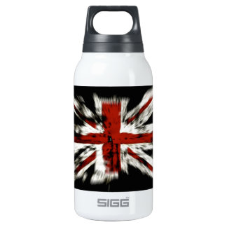 Abstract UK Flag Insulated Water Bottle