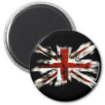 Abstract UK Flag Refrigerator Magnets