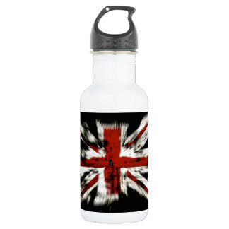 Abstract UK Flag Water Bottle