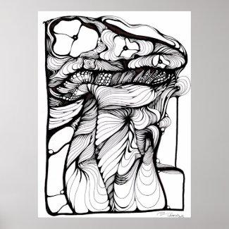Abstract Umbrella print
