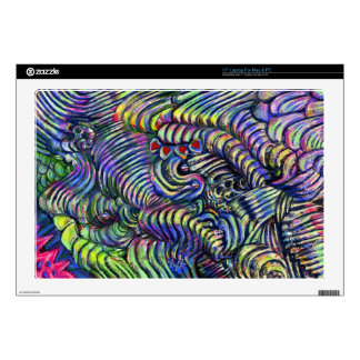 "Abstract ""Underwater Flow"" Decals For 17"" Laptops"