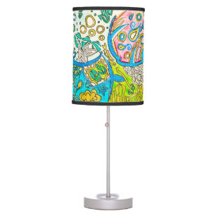 Abstract drawing table pendant lamps zazzle abstract underwater jellyfish pen drawing table lamp aloadofball Gallery
