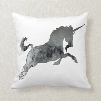 Abstract Unicorn silhouette Throw Pillow
