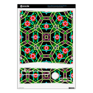 Abstract unique pattern xbox 360 s console decal