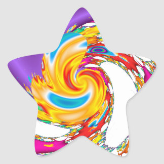 Abstract Universe Star Sticker