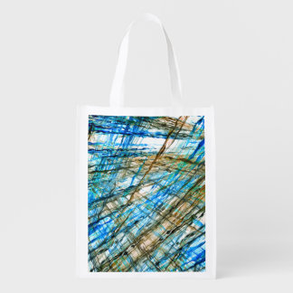 Abstract Unrest Grocery Bags