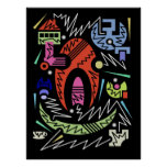 abstract urban 16 poster
