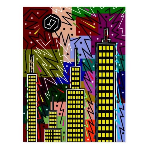 abstract urban 17 postcard