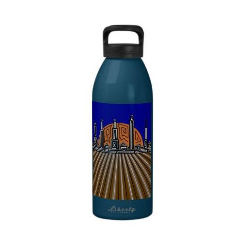 abstract urban 19 drinking bottle